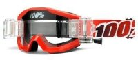 Маска STRATA Mud Goggle Fire Red - Clear Lens