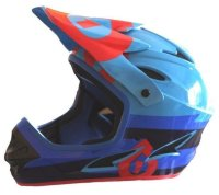Шлем фулл 661 Sixsixone COMP BOLT HELMET RED/BLUE