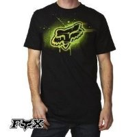 Футболка мужская Fox Blamo s/s Tee BLACK/GREEN Medium