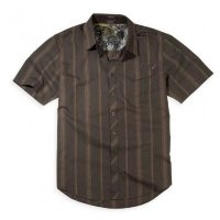 Футболка мужская Fox Monument s/s Woven Dark Brown S
