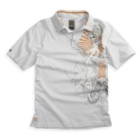 Футболка мужская Fox Inked s/s Polo Light Grey S