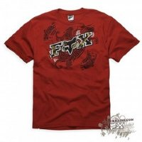 Футболка мужская Fox Tahititat ss Tee Mens RED Small