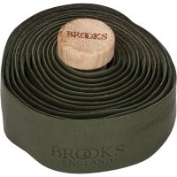 Обмотка руля BROOKS Leather Bar Tape Olive Green