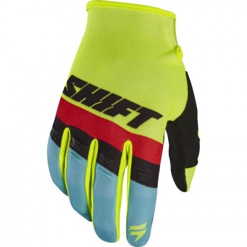 Мото перчатки SHIFT WHIT3 AIR GLOVE fluo yellow