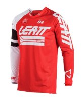 Мото джерси LEATT Jersey GPX 4.5 X-Flow Red/White