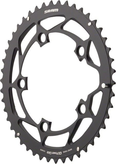 Звезда SRAM POWERGLIDE CRING ROAD 46T 10S 110 AL4 BLK L-PIN GXP