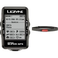 Компьютер Lezyne SUPER GPS HR LOADED черный