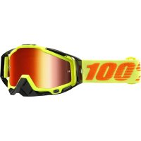 Мото очки 100% RACECRAFT Goggle Attack Yellow - Mirror Red Lens
