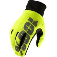 Зимние мото перчатки RIDE 100% BRISKER Hydromatic Waterproof Glove [Neon Yellow]