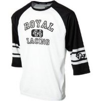 Джерси Royal ATHLETIC JERSEY 3/4 WHITE/BLACK M