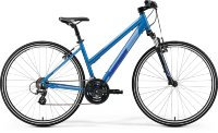 Велосипед Merida CROSSWAY 10-V SILK SEA BLUE(SILVER/DARK BLUE)