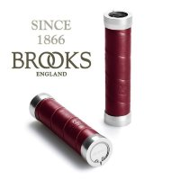 Грипсы BROOKS Slender Leather Grips Maroon