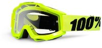 Маска ACCURI Moto Goggle Fluo Yellow - Clear Lens