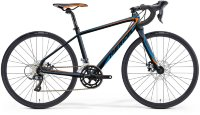 Велосипед Merida MISSION J.ROAD METALLIC BLACK(ORANGE/BLUE)