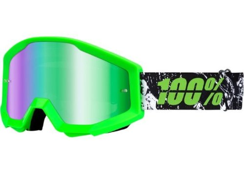 Мото очки 100% STRATA Goggle Crafty Lime - Mirror Green Lens