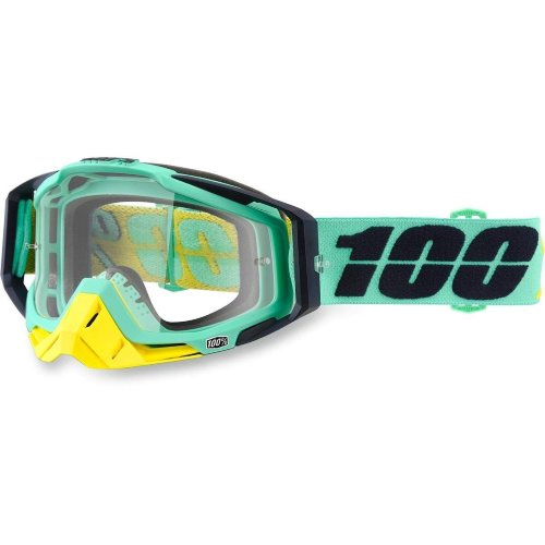 Мото очки 100% RACECRAFT Goggle Kloog - Mirror Green Lens