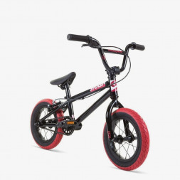 "Велосипед 12"" Stolen AGENT 13.25"" 2021 BLACK W/ DARK RED TIRES"