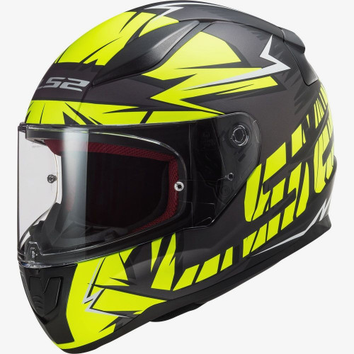 Мотошлем LS2 FF353 RAPID CROMO MATT BLACK HI VIS YELLOW