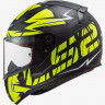 Мотошлем LS2 FF353 RAPID CROMO MATT BLACK HI VIS YELLOW -